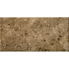 "Natural Stone 16"" x 24"" Chiseled Travertine Field Tile in Umbia Bruno"
