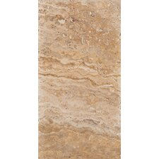 "Natural Stone 16"" x 8"" Chiseled Travertine Field Tile in Scabos"