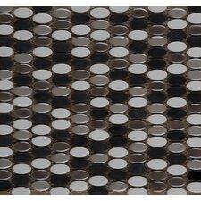 Confetti Glazed Porcelain Oval Round Mosaic in Gelido
