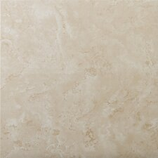 "Cordova 17"" x 17"" Glazed Ceramic Tile in Avorio"