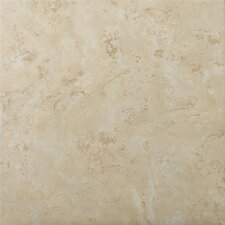 "Cordova 13"" x 13"" Glazed Ceramic Tile in Crema"
