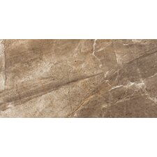 "Eurasia 12"" x 24"" Glazed Porcelain Tile in Noce"