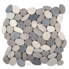 "Venetian 12"" x 12"" Pebble Mosaic in Medici"