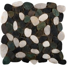 "Rivera 12"" x 12"" Flat Pebble Mosaic in Spring"