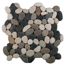 Venetian Random Sized Pebble Mosaic in Multi-Color