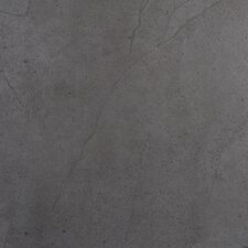 "St Moritz 18"" x 18"" Glazed Porcelain Tile in Gray"