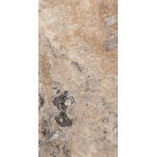 "Trav Chiseled 16"" x 8"" Chiseled Travertine Tile in Multicolor"