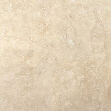"Trav Savera 12"" x 12"" Travertine Tile in Beige"