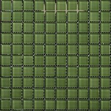 "Lucente 12"" x 12"" Glossy Mosaic in Billiard Green"