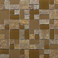Lucente Random Sized Stone and Glass Mosaic Pattern Blend in Venezia