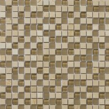 "<strong>Emser Tile</strong> Lucente 12"" x 12"" Stone and Glass Mosaic Blend in Murano"
