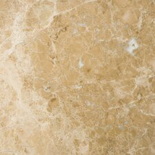 "Natural Stone 12"" x 12"" Marble Tile in Emperador Light"