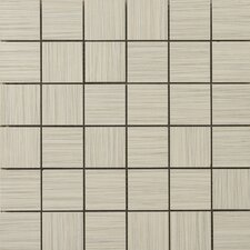 "Strands 12"" x 12"" Mosaic Tile in Oyster"