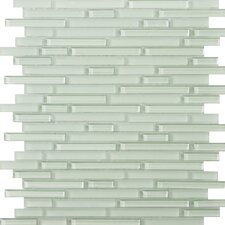 "Lucente 13"" x 13"" Glass Mosaic in Cascade Linear"