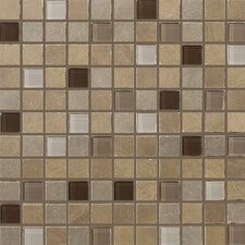 "Pamplona 13"" x 13"" Mosaic in Glass Pattern Blend"