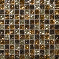 """Vista 1"""" x 1"""" Glass Mosaic in Caldo Blend"""
