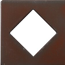 "Renaissance 4"" x 4"" Catania Field Metal Tile in Rust Iron"
