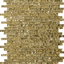 Vista Random Sized Glass Mosaic in Ghisetti Linear