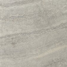 "<strong>Emser Tile</strong> Natural Stone 16"" x 16"" Tumbled Travertine Tile in Silver"