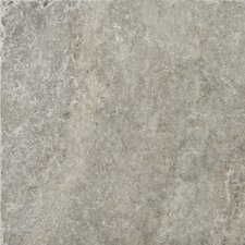 "Natural Stone 12"" x 12"" Tumbled Travertine Tile in Silver"
