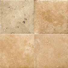 "Natural Stone 16"" x 16"" Chiseled Travertine Field Tile in Umbia Bruno"