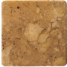 "<strong>Emser Tile</strong> Natural Stone 12"" x 12"" Tumbled Travertine Tile in Oro"