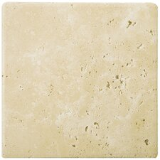 "Natural Stone 12"" x 12"" Tumbled Travertine Tile in Ancient Beige"