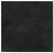"Natural Stone 12"" x 12"" Calibrated Slate Field Tile in Midnight Black"