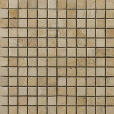 "Natural Stone 1"" x 1"" Vino Travertine Mosaic in Gold"