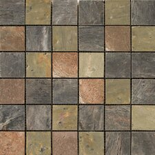 "Natural Stone 12"" x 12"" Honed Slate Mosaic in Copper"