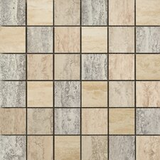 "Titan 13"" x 13"" Glazed Porcelain Mosaic in Blend Multicolor"