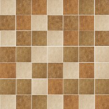 "Agra 13"" x 13"" Glazed Porcelain Mosaic Blend in Multicolor"