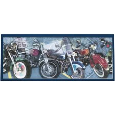 Motorcycle Painting Print on Plaque