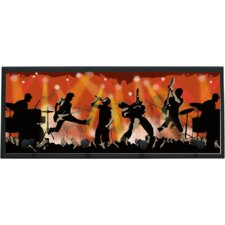 Rock Show Wall Plaque with Wooden Pegs
