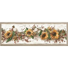 Sunflowers Painting Print on Plaque