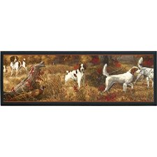 Hunting Spaniels Painting Print on Plaque