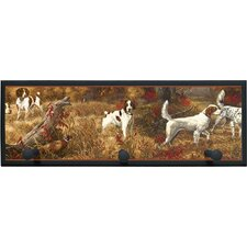 Hunting Spaniels Painting Print on Plaque with Pegs