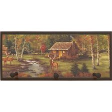 Rustic Cabin Painting Print on Plaque