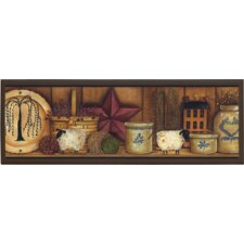 "Country Pottery Wall Art - 7"" x 20.5"""