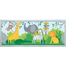 "Zoo Animals Wall Art - 10.25"" x 25"""