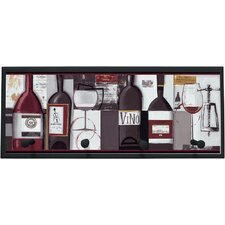 "Wine Bottles Wall Art with Pegs - 10.25"" x 25"""