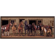"At The Stable Wall Art - 10.25"" x 25"""
