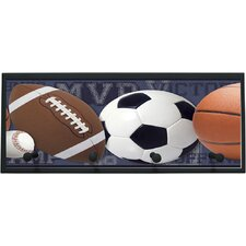 Mixed Sports Balls Wall Graphic Art on Plaque