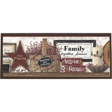Friends and Family Framed Painting Print