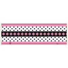 Daisy Ribbon Graphic Art on Plaque with Pegs