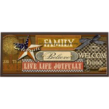 Joy Inspired Americana Wall Graphic Art on Plaque