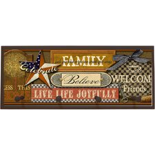 Joy Inspired Americana Wall Plaque