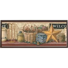 Country Welcome Sign Framed Painting Print