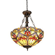 <strong>Chloe Lighting</strong> Victorian 2 Light Byron Inverted Ceiling Pendent