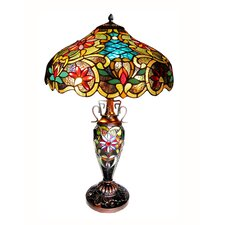 "Victorian Leslie 24"" H Table Lamp with Bowl Shade"